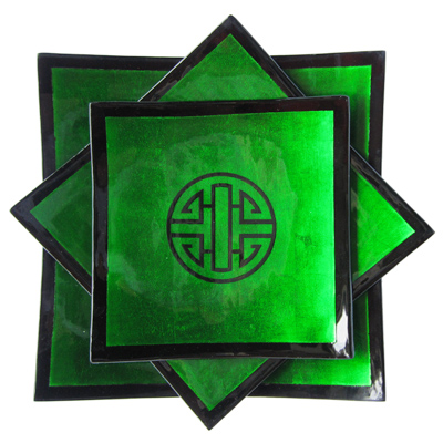 Green symbol plates