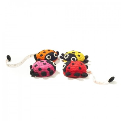 Crocheted ladybug tape measure