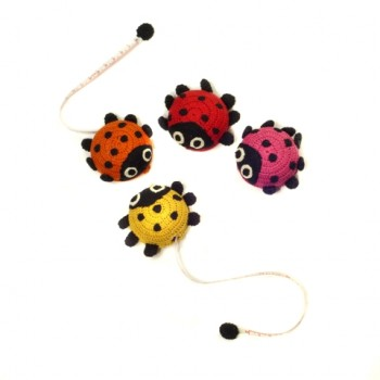 Ladybug crocheted measuring tape