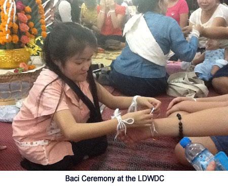 Baci Ceremony at LDWDC.