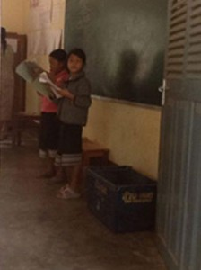 School children in classroom at Nong Khiaw School.
