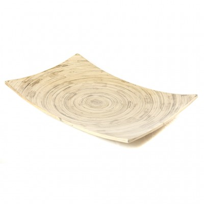 Natural black bamboo platter. Platter size: 45 x 30 x 3 cm