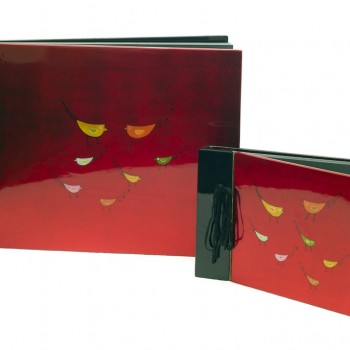 ON SALE - handmade lacquerware photo album
