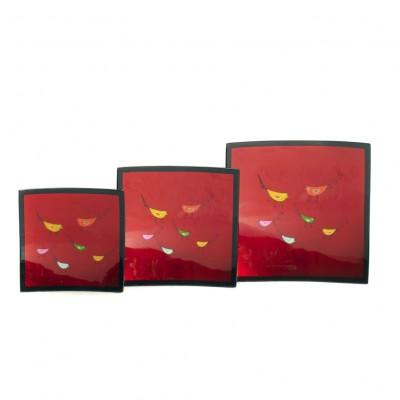 Vietnamese lacquerware plates on sale