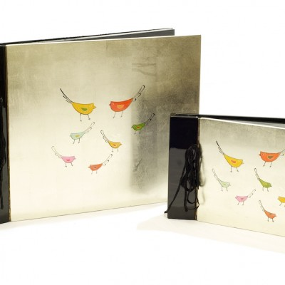 Silver lacquerware dry mount photo album