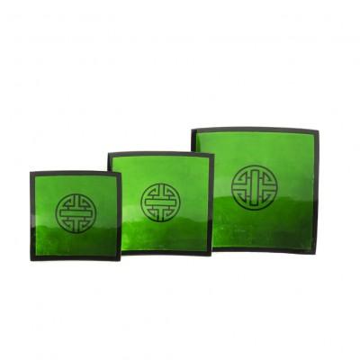 Green Vietnamese lacquerware plates