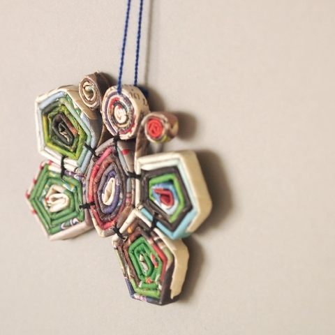 Fair Trade recycled paper hanging ornaments