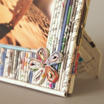 Detail flower photo frame