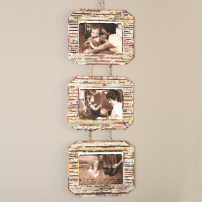 Environmentally friendly hanging photo frame