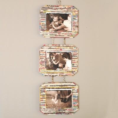 Environmentally friendly hanging photo frame