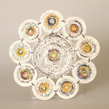 Recycled paper placemat