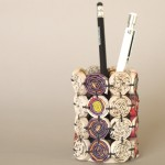 Recycled paper pen holder