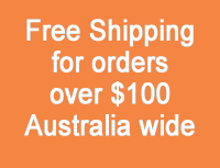 Free Shipping for orders over $100 Australia wide