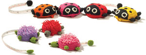Ladybug and porcupine tape measures