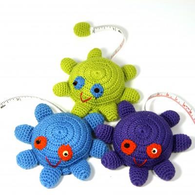 --Crochet Tape measures Octopus